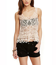 BAROQUE TIERED LACE TANK