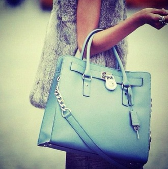 bag blue bag tote bag purse