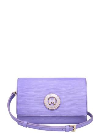 bag shoulder bag leather violet