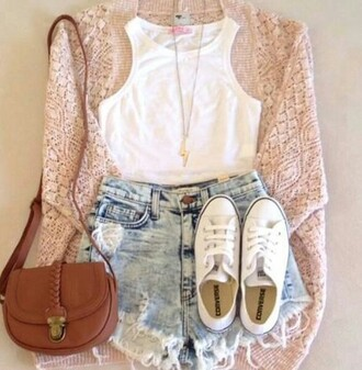 cardigan spring pink crochet white top crop tops converse shorts knit cardigan winter cosy knitted cardigan top