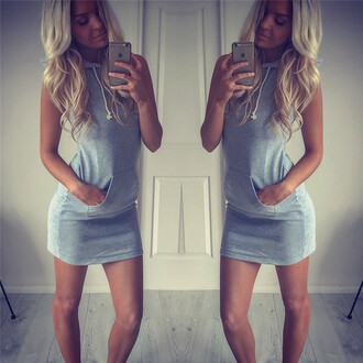 dress sleeveless sleeveless dress grey dress rose wholesale spring hoodie casual dope fashion style indie hipster trendy