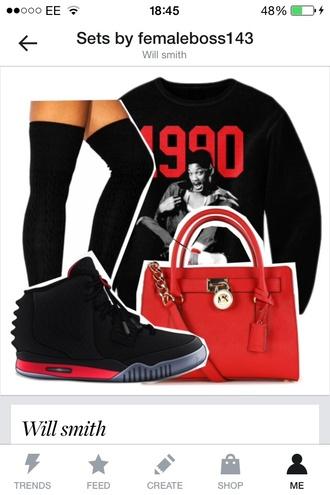 sweater will smith 1990 yeezy nike airjordan sneakers shoes bag underwear