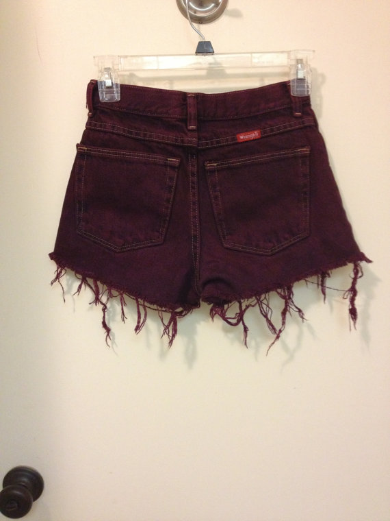 Spiked High Waisted Shorts by DistressedVintage on Etsy