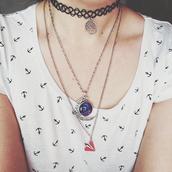 t-shirt,anchor,jewels