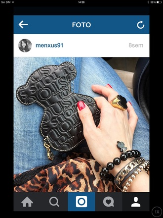 bag tous bear jeans zara animalprint dress jumpsuit nail accessories jewels