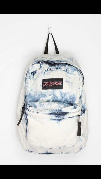 bag denim acid wash backpack jansport jansport acid wash