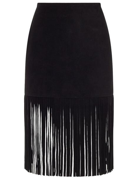 skirt suede black