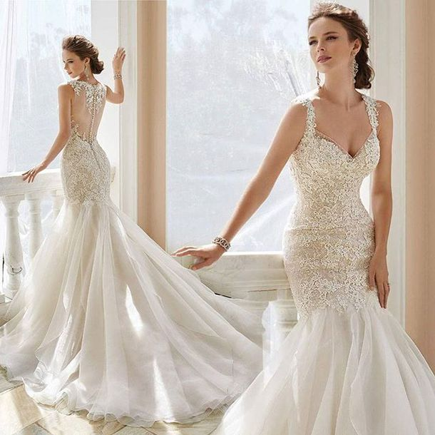 Fit And Flare Wedding Dress.Get The Dress For 1573 At Newyorkdress Com Wheretoget