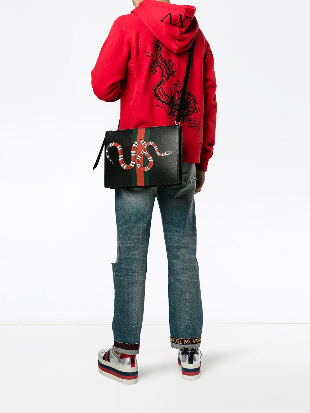 c58d5893089f Gucci Web And Snake Messenger Bag - Farfetch