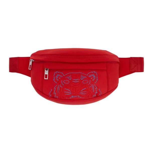 Kenzo Red Neoprene Tiger Bum Bag