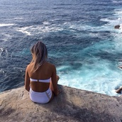 swimwear,bikini,white,high waisted bikini,cut-out,summer,ocean,cliff,togs,swimmers,white bikini,white high waisted bikini bikini,white togs