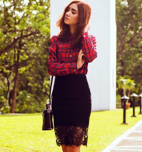 skirt black skirt elegant skirts streetstyle stylemoi
