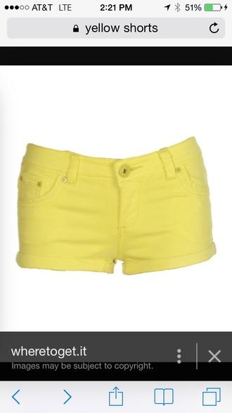 shorts yellow shorts