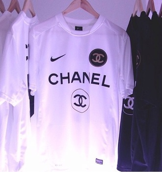 shirt nike running shoes nike air chanel t-shirt chanel top gloves tank top