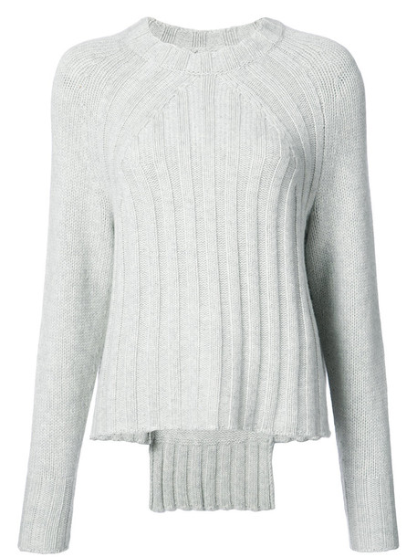 Nili Lotan - Everyly ribbed jumper - women - Cashmere - S, Grey, Cashmere