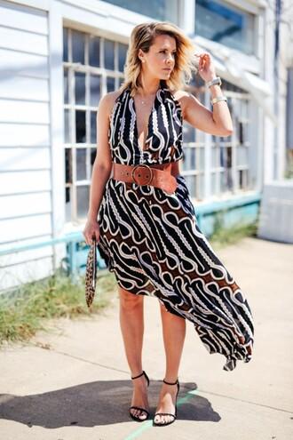 the courtney kerr blogger dress belt shoes bag jewels