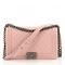 Pink leather handbag chanel pink