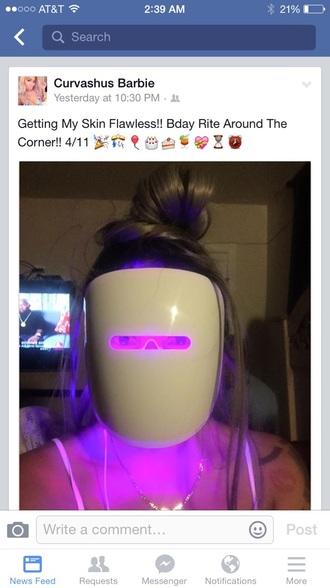 make-up facial treatment