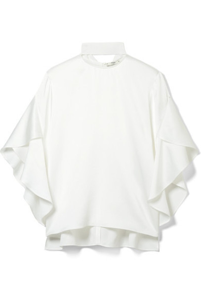 Fendi top white satin