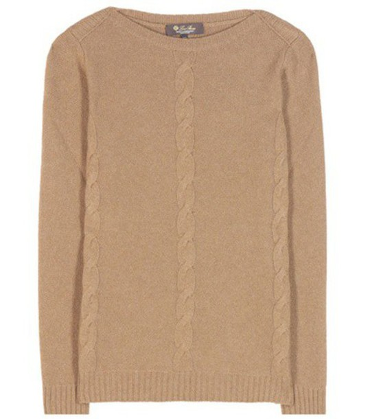 Loro Piana Kimberley Baby Cashmere Knitted Sweater in brown