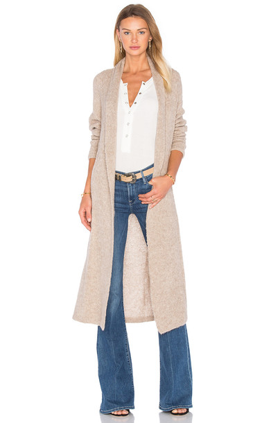 AYNI Yambara Long Cardigan in tan - Wheretoget