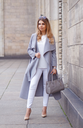a piece of anna blogger coat shoes jewels pants blouse sunglasses