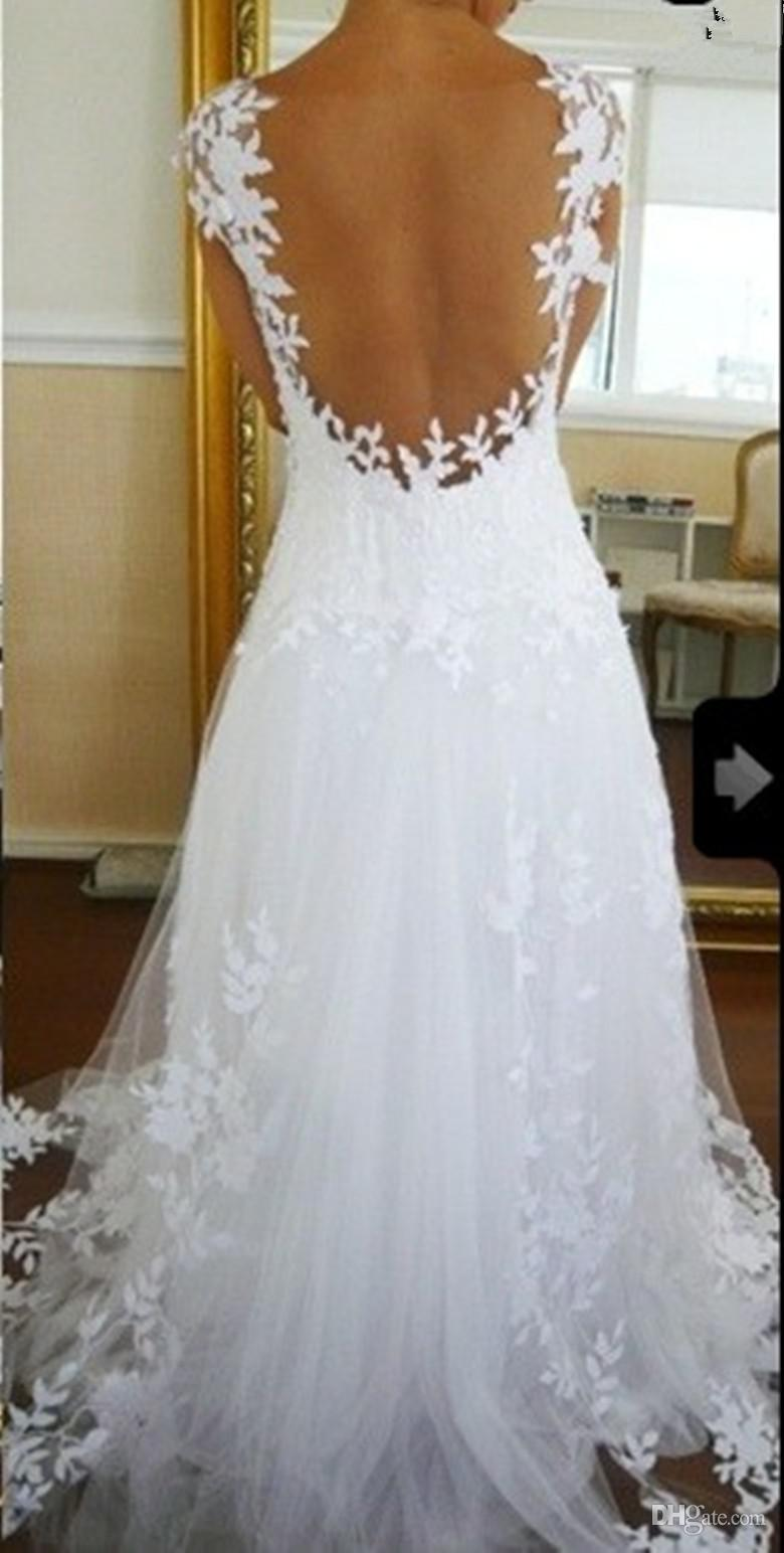 Discount nicest wedding dress ever a line v neck online with $113.99/piece