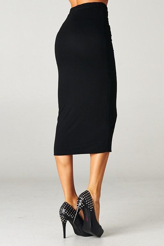 Length fitted skirt