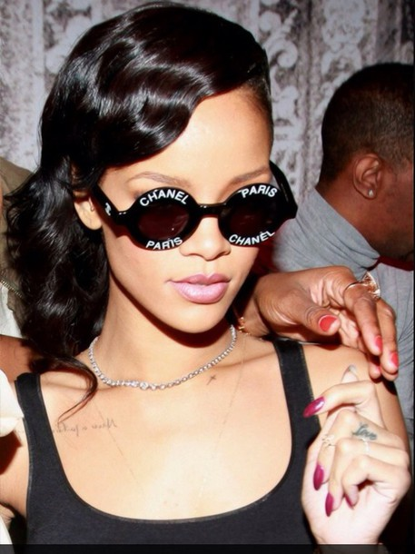 sunglasses new black w silver. or t goldld rihanna chanel round sunglasses paris