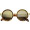 Blender revo mirror round frame sunglasses in tortoise at flyjane