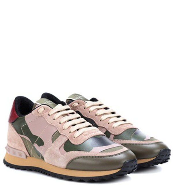 Valentino Garavani Rockrunner camouflage sneakers in green