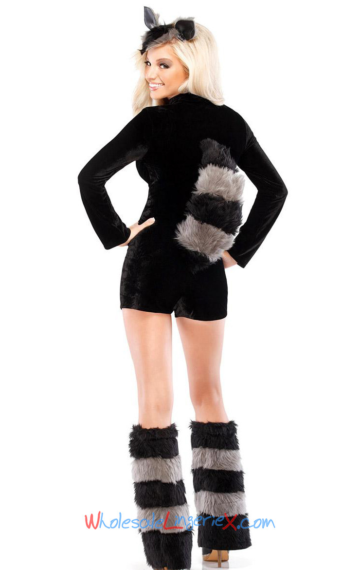 3 Pc Racy Raccoon Costume ACS506 [ACS506] - $12.90 : Wholesale4costumes