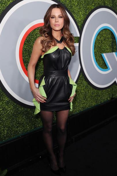 dress leather leather dress kate beckinsale mini dress