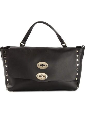 satchel studded black bag