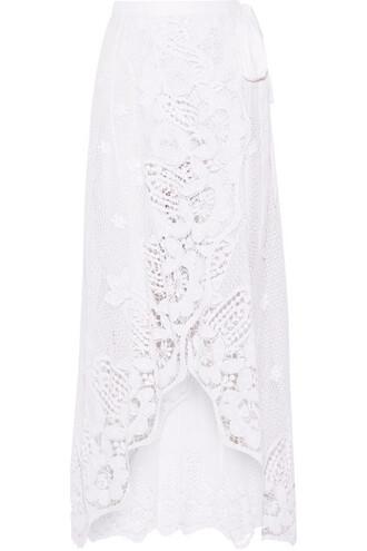 skirt maxi skirt wrap maxi skirt maxi lace white cotton