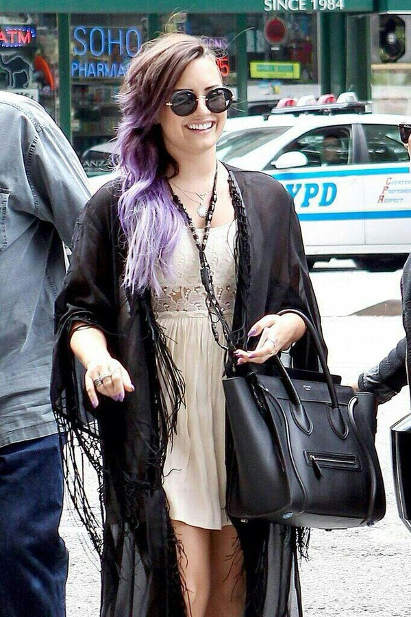 jacket demi lovato kimono shoes bag