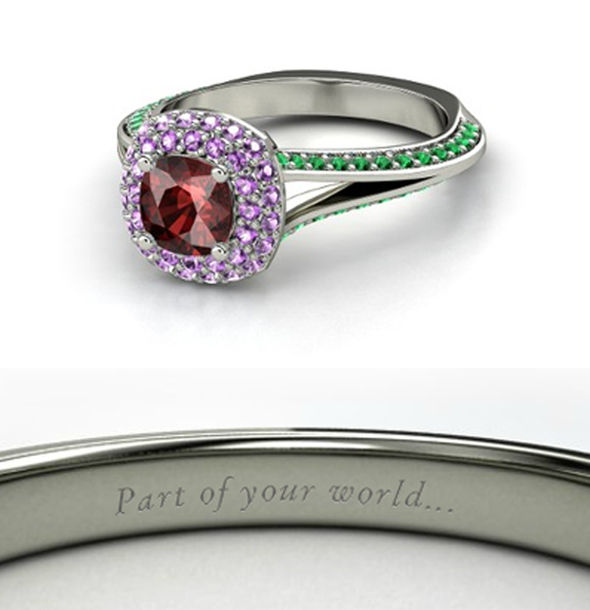 jewels ring beautiful red purple green disney the little mermaid disney princess