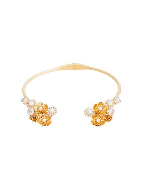 Ca & Lou women necklace gold grey metallic jewels