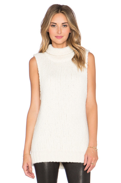 Kathryn McCarron sweater oversized sleeveless cream