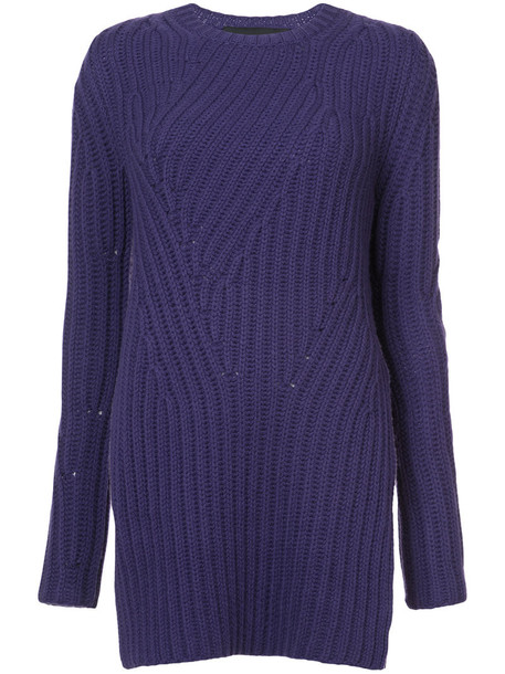 Jeffrey Dodd jumper long women purple pink sweater