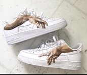 shoes,airforce 1 original hand painting,custom,nike air force 1
