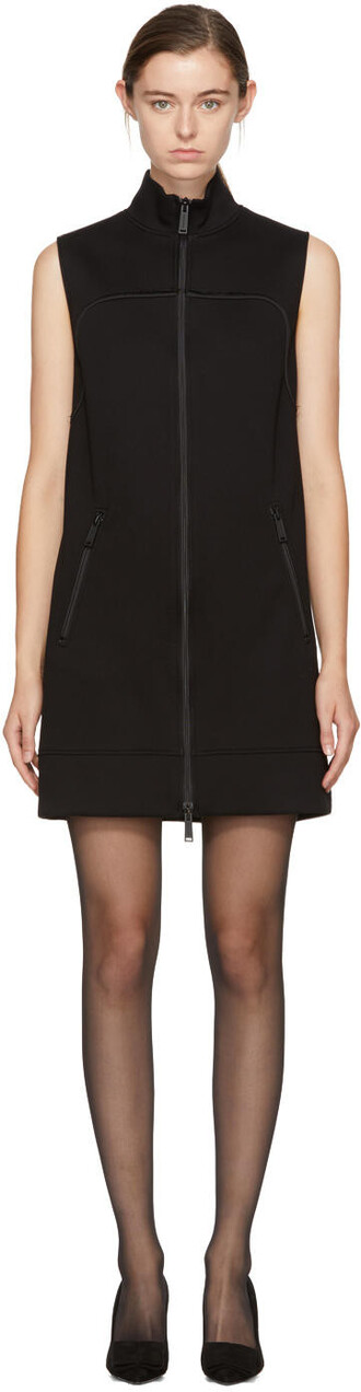 dress zip black