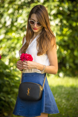 style and trouble blogger ysl bag round sunglasses