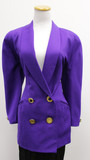 Dana buchman double breasted royal purple blazer (size