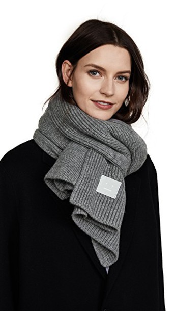 Acne Studios scarf grey