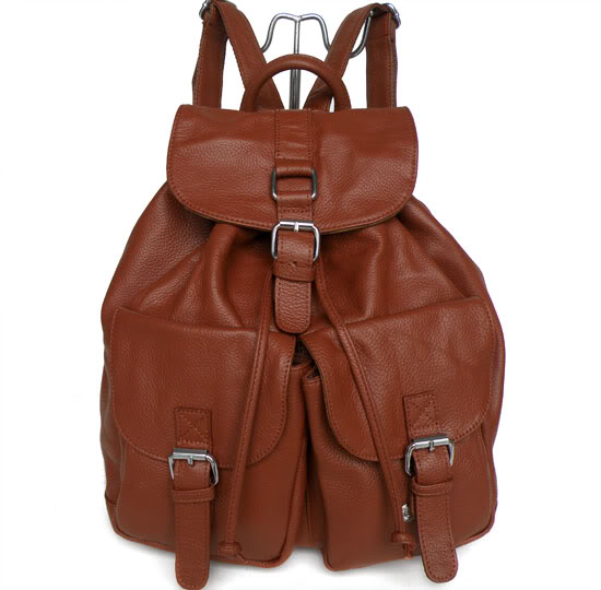2166 Brown Leather Fashion Hand Shoulder Bag Backpack Purse_Shoulder Bags_Women's Leather Bags_Shenzhen Jia Mei Da Leather Industry Co., Ltd.