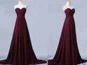 dress,maroon/burgundy,gown,burgundy dress,prom dress,burgundy,long dress,sleeveless dress