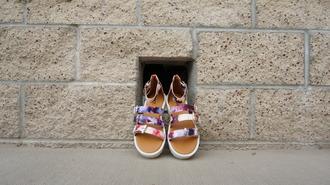 shoes qupid zooshoo zooshoo shoes sandals flat sandals floral sandals strappy sandals
