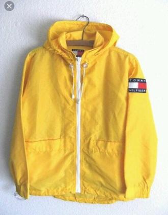 coat tommy hilfiger yellow anorak