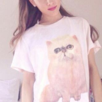 shirt cat shirt cute kitty kittens kityykat katter meow ariana grande grande butera cats